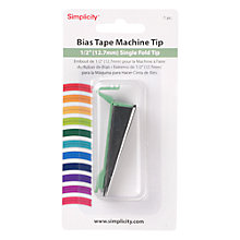 Buy Simplicity Bias Tape Maker Single Fold Tip, 12.7 mm Online at johnlewis.com