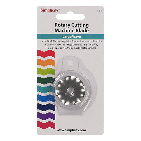 Buy Simplicity Rotary Cutting Machine Blade, Large Wave Online at johnlewis.com