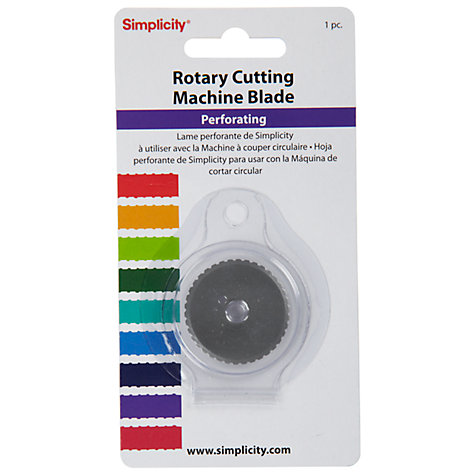 Buy Simplicity Rotary Cutting Machine Blade, Perforating Online at johnlewis.com