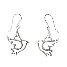 Buy Martick Tattoo Dove Earrings, Silver Online at johnlewis.com