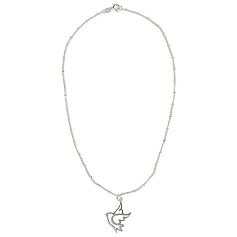 Buy Martick Dove Pendant Necklace, Silver Online at johnlewis.com