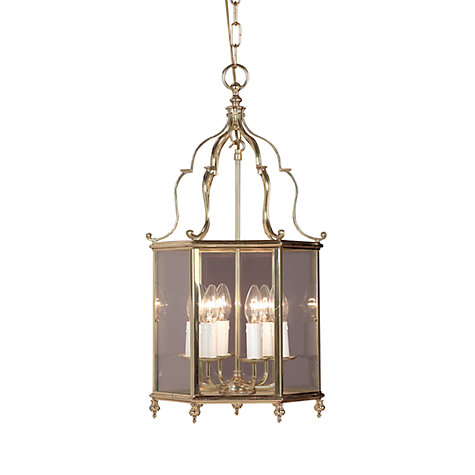 Buy Belgravia Ceiling Light, Polished Brass, 5 Light Online at johnlewis.com