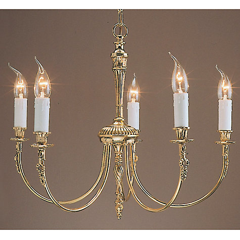Buy Richmond Ceiling Light, Polished Brass, 5 Light Online at johnlewis.com
