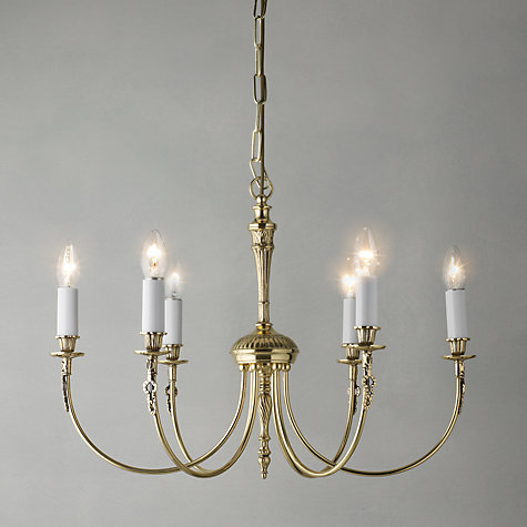 Buy Richmond Ceiling Light, Polished Brass, 6 Light Online at johnlewis.com