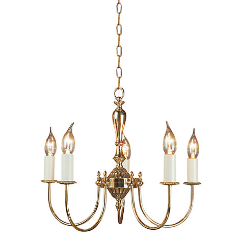 Buy Kew Ceiling Light, Polished Brass, 5 Lights Online at johnlewis.com