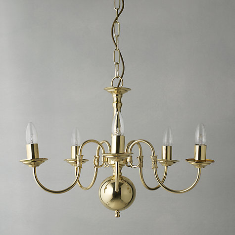 Buy Bruges Ceiling Light, Polished Brass, 5-Light Online at johnlewis.com