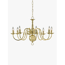 Buy Impex Bruges Chandelier, Polished Brass, 8-Light Online at johnlewis.com