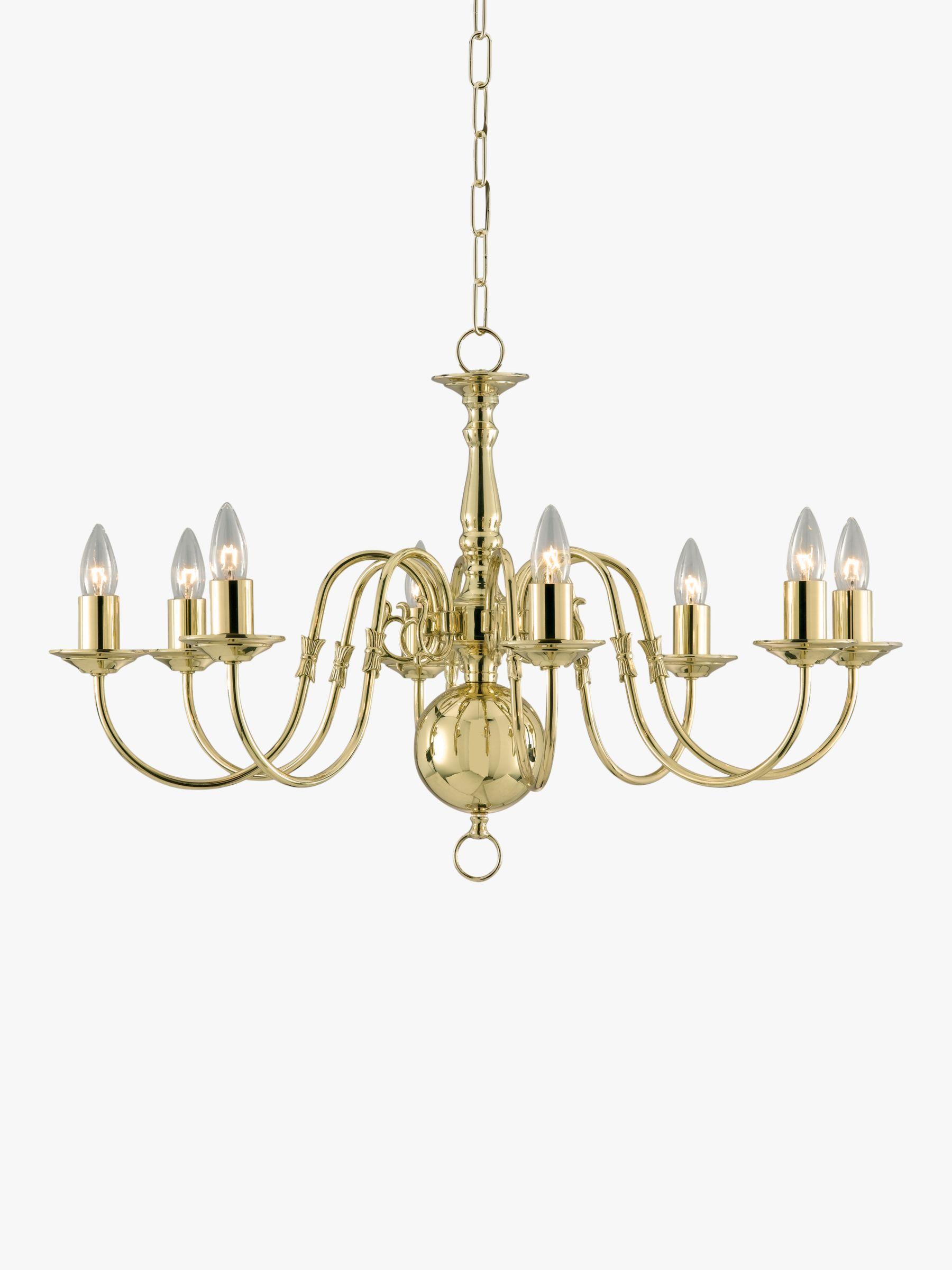 Impex Impex Bruges Chandelier, Polished Brass, 8-Light