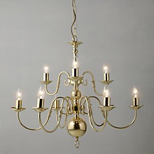Buy Bruges Ceiling Light, Polished Brass, 9-Light Online at johnlewis.com