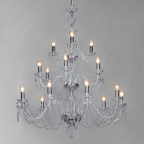 Buy Impex Odette Chandelier, Chrome, 18 Light Online at johnlewis.com