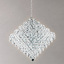 Buy Impex Elenya Chandelier, Chrome, 18 Light Online at johnlewis.com