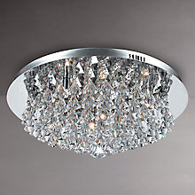 Buy Parma Flush Light, Chrome, 8 Light Online at johnlewis.com
