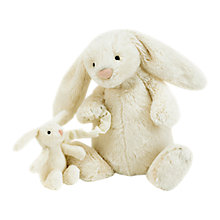 Buy Jellycat Bashful Bunny Musical Pull, Cream Online at johnlewis.com