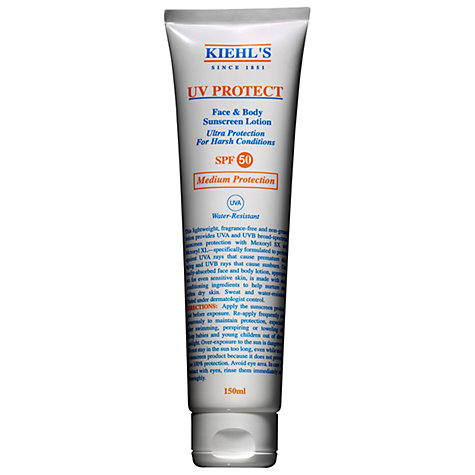 Buy Kiehl's UV Protect Face and Body Suncream Lotion SPF50, 150ml Online at johnlewis.com