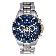 Buy Bulova 98H37 Men's Marine Star Chronograph Bracelet Watch Online at johnlewis.com