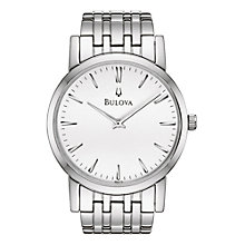 Buy Bulova 96A115 Men's Round Stainless Steel Bracelet Watch Online at johnlewis.com
