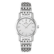 Buy Bulova 96L131 Women's Round Stainless Steel Bracelet Watch Online at johnlewis.com