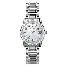 Buy Bulova 96R105 Women's Highbridge 24 Diamond Set Stainless Steel Bracelet Watch Online at johnlewis.com