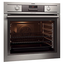 Buy AEG BE5304001M Built-In Single Electric Oven, Stainless Steel Online at johnlewis.com