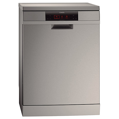 Buy AEG F99009M0P Dishwasher, Stainless Steel Online at johnlewis.com