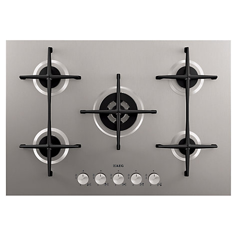 Buy AEG HG755420UM Gas Hob, Stainless Steel Online at johnlewis.com