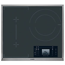 Buy AEG HK683320XG Ceramic Induction Hob, Black Online at johnlewis.com