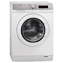Buy AEG L87480FL Washing Machine, 8kg Load, A+++ Energy Rating, 1400rpm Spin, White Online at johnlewis.com