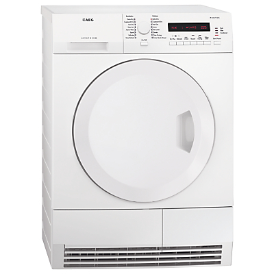 AEG T75280AC ProTex Condenser Tumble Dryer, 8kg Load, B Energy Rating, White