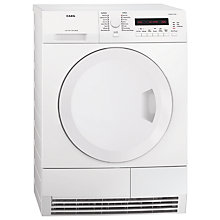 Buy AEG T75280AC ProTex Condenser Tumble Dryer, 8kg Load, B Energy Rating, White Online at johnlewis.com