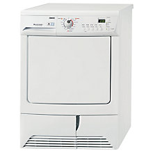 Buy Zanussi ZDC68560W Condenser Tumble Dryer, 8kg Load, B Energy Rating, White Online at johnlewis.com