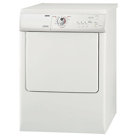 Buy Zanussi ZDE67560W Vented Tumble Dryer, 7kg Load, C Energy Rating, White Online at johnlewis.com