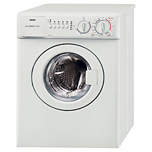 Buy Zanussi ZWC1301W Compact Washing Machine, 3kg Load, A Energy Rating, 1300rpm Spin, White Online at johnlewis.com