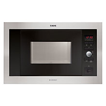 Buy AEG MC1763E-M Built-in Microwave, Stainless Steel Online at johnlewis.com