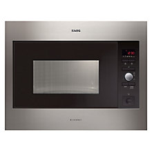 Buy AEG MC2664E-M Built-in Microwave, Stainless Steel Online at johnlewis.com
