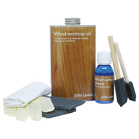 Buy John Lewis Solid Wood Worktop Care Kit Online at johnlewis.com