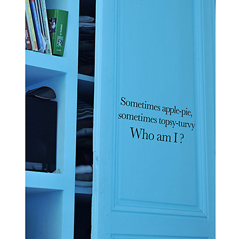 Buy Le Pré d'Eau Poetic Wall Bedroom Riddle Wall Sticker Online at johnlewis.com