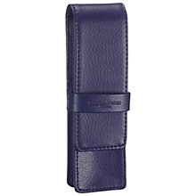 Buy Campo Marzio Leather Double Pen Case, Purple Online at johnlewis.com