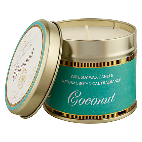 Buy Kew Gardens Scented Candle In a Tin, Coconut Online at johnlewis.com