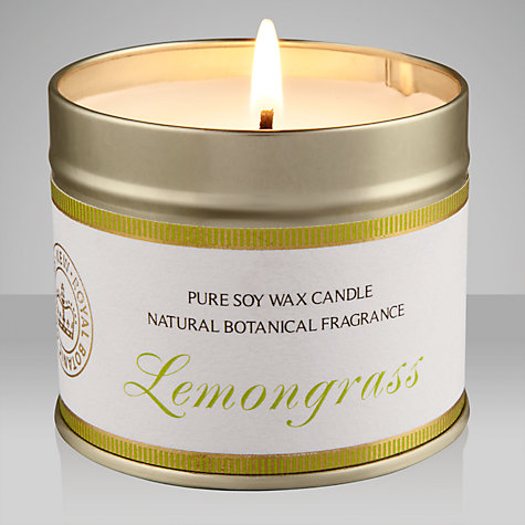 Buy Kew Gardens Scented Candle In a Tin, Lemongrass Online at johnlewis.com