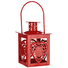 Buy John Lewis Heart Tealight Candle Holder, Red Online at johnlewis.com