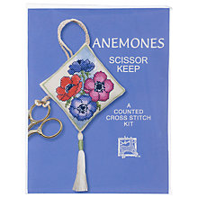 Buy Textile Heritage Anemones Scissor Keep Cross Stitch Kit Online at johnlewis.com