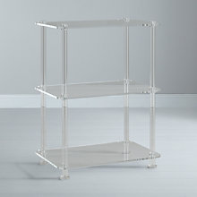 Buy John Lewis Ice 3 Tier Bookcase, Clear Online at johnlewis.com