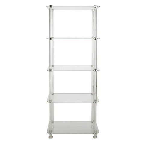 Buy John Lewis Ice 5 Tier Bookcase, Clear Online at johnlewis.com