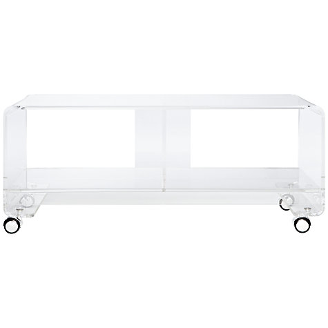 Buy John Lewis Ice TV Console Table for TVs up to 37-inch, Clear Online at johnlewis.com