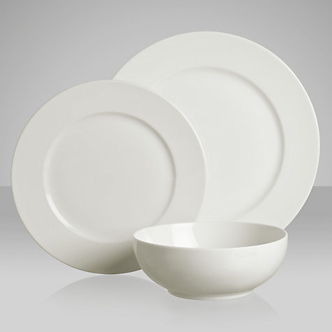 Buy House by John Lewis Rimmed Tableware Set, 12 Piece Online at johnlewis.com