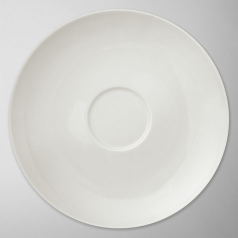 Buy House by John Lewis Teacup/Cappuccino Saucer, Dia.16.5cm, White Online at johnlewis.com