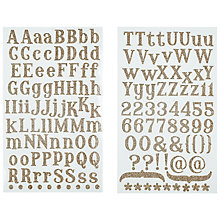 Buy Glitter Alphabets & Numbers, Gold Online at johnlewis.com
