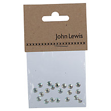 Buy John Lewis Swarovski AB Crystal Hotfix Beads, Pack of 20, Metallic Online at johnlewis.com