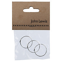 Buy John Lewis Flat Pad Rings, Pack of 3 Online at johnlewis.com