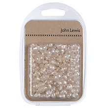 Buy John Lewis Lustre Glass Beads Mix, 100g, Clear Online at johnlewis.com